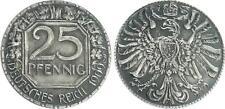 PROBE PER 25pf. J.18 1909 A in Altro CREAZIONE der davanti e retro