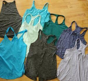 Lululemon Tanks Lot Size 6 4 Bundle of 8 Salute Sun Sweat Date Heart Opener 105