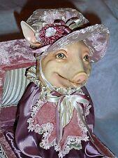 "RARE Katherine's Collection By Wayne Kleski ROSIE PIGGY Pig Jack in the Box 11"""