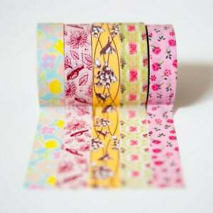 Pirongs Washi Decorative Tape - Set of 5 Rolls, 4 designs to choose from!