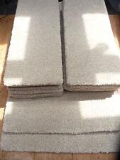 56 X 22 cm 12x STAIR PADS very thick pile light beige fleck BLEACH CLEAN #1192