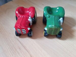 2 Tractor Ornaments