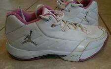 Air Jordan Show'm Low Women's Sz 8.5 White/Metallic Silver-Rose VTG 2006 Nike