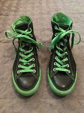 Converse All Star Chuck Taylor Hi Tops Sz 10 Black Neon Green (Mens Sz 8)