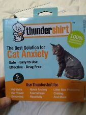 """ThunderShirt Cat Anxiety Jacket Solid Gray Small 9-13"""" Chest Less than 9 pounds"""