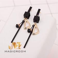 Fashion Jewelry 1 Pair Women Lady Elegant Black Cube Ear Stud Earrings USA
