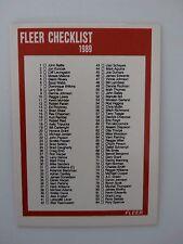1989-90 Fleer #168 Checklist Basketball Card
