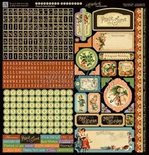 "GRAPHIC 45 ""PLACE IN TIME"" 12X12 STICKER SHEET   CALENDAR    SCRAPJACK'S PLACE"