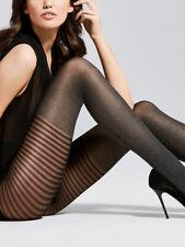 Streifen Overknee Strumpfhose Design Muster Melange 40DEN Gr.S,M,L
