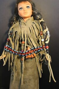 """IDEAL - TIFFANY TAYLOR doll - 18"""" - Dressed in Native Indian Costume"""