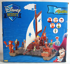 VERY RARE 2004 DISNEY HEROES PETER PAN WOODEN RAFT FAMOSA SPAIN BRAND NEW SEALED