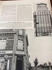 m8-8 ephemera 1938 ww1 picture auberge de la bombe cafe 1938