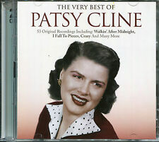 THE VERY BEST OF PATSY CLINE - 2 CD BOX SET - CRAZY, TRUE LOVE & MANY MORE