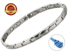 Ladies Magnetic Health Bracelet Stainless Steel Therapy Healing Relief Arthritis