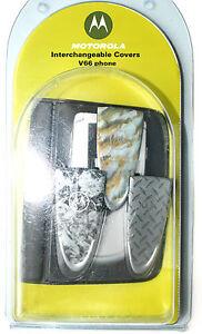 Original Motorola Austausch cover für Motorola V66 mit Etui 3 Stück