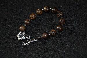 SILPADA - B1365 - Bronzite & Sterling Silver Bead Bracelet - RET