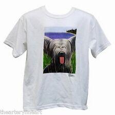 ALEX KATZ 'Sunny #4', 1971 Artist Dog T-Shirt LARGE Mens Adult Skye Terrier NEW