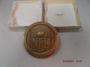 RARE NFL 1969 Solid Bronze NFL Medallion Super Bowl