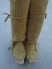 "NEW GOLD ELK SUEDE HIGH TOP ""CACTUS KICKERS"" REGALIA MOCCASINS MUKLUKS 5-12"