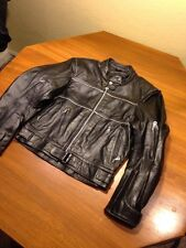 Echtes Leder Leather Bike Motorcycle Racing Jacket Small S No Liner Shell Euc