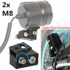 2x M8 Screw CNC Motorcycle LED Head Fog Light Mounting Bracket Post Support Base
