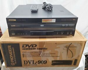Barely Used - With Box - Pioneer - DVL-909 - DVD-LD-CD-Video CD Player - Tested
