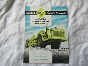 Euclid S-7 hydraulic scraper tractor brochure