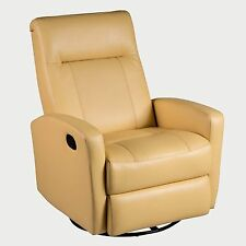 STEFAN swivel glider recliner in diego yellow color