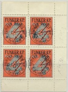Switzerland Soldier Stamp Funker Radio 1939 MNH Block of 4 Special Cancellations