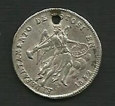 1852 BOLIVIA PROCLAMATION MEDAL SILVER ANGEL WITH HORN