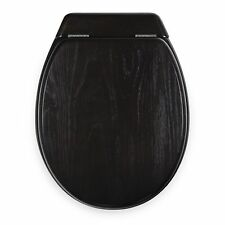 Loo With A View SOLID TIMBER TOILET SEAT 3Pcs, Brass Hinges CHOCOLATE*Aust Brand