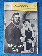 Fiddler On The Roof - Majestic Theatre Playbill - March 1968 - Harry Goz