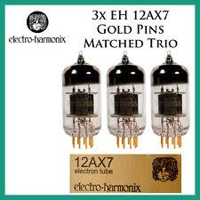 New 3x Electro Harmonix Gold 12AX7 / ECC83 | Matched Trio / Set / Three Tubes