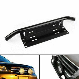 Front Bumper Off-road Spot Lights License Plate Bull Bar Style Holder Bracket AF