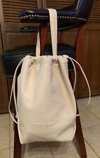 New Saint Laurent Teddy Bucket Bag Off White Lambskin Leather YSL W/Dust Bag