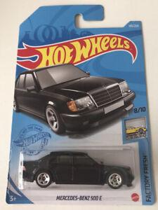 2021 HOT WHEELS #145 Mercedes-Benz 500 E (Black - Case H Long Card) New