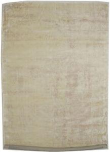 Floral Contemporary Design Distressed 4X6 Beige Hand-Loomed Modern Rug Carpet