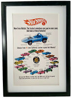 "1968 Hot Wheels Redline Cars Poster 11"" x 17""  Sweet 16, Pink Python Cheetah"