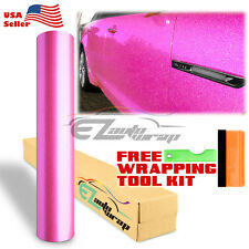"60""x540"" Premium High Gloss Glitter Pink Sparkle Car Vinyl Wrap Sticker Decal"