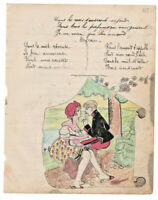 1906 military soldier manuscript lyricsLA SAVOYARDE sexy drawing