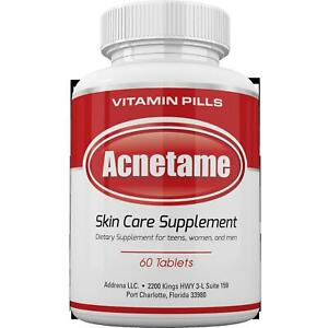 Acnetame Vitamin Supplement Acne Treatment 60 Natural Pills Effective Ingredient