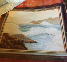 Spinnerin Needlepoint Kit Seascape #Np-175 Rare Vintage Open Package