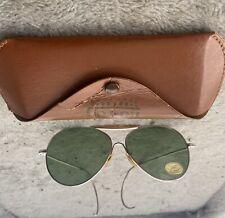 Vintage Sunsters No Ray Aviator Sunglasses Green Lenses In Case Unworn W Sticker