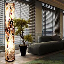 Design Steh Leuchte Asia Büro Beleuchtung Textil Wohnraum Stand Lampe 2x E27