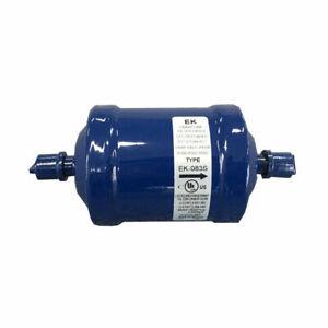 Liquid Line Filter Drier for Vacuum Pump EK-083S 3/8 OD Male Flare Uniflow