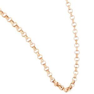 "9Carat Rose Gold 30"" Belcher Chain/ Necklace (3mm Wide)"