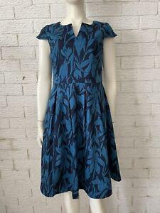 Target Dress Ladies Size 12 Floral Aqua Black