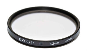 High Quality Kood 62mm Glass SKYLIGHT 1B Filter Made in Japan Protection Filter