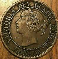 1859 CANADA LARGE CENT COIN LARGE 1 CENT PENNY - Excellent example!