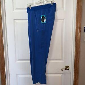 NWT IRG Elevate Yoga Waist Scrub Pants XL Blue Comfort Fit Pockets Stretch